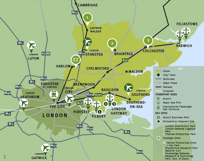 Direct access to Cambridge, London and Stansted airport