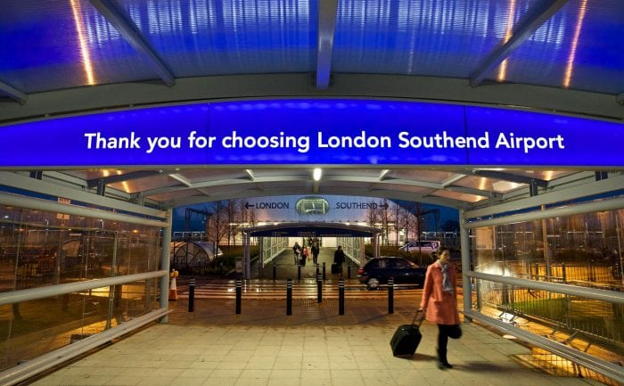 Exit from London Southend Airport