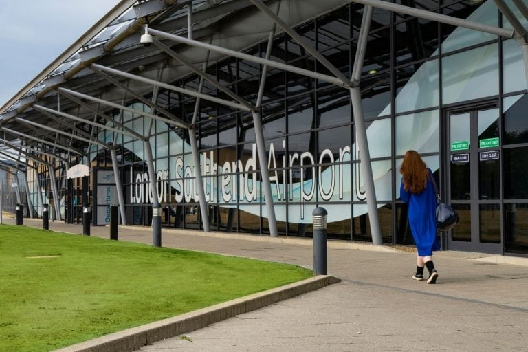 Passenger arriving at London Southend Airport