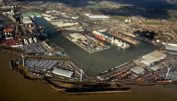 port of tilbury aerial