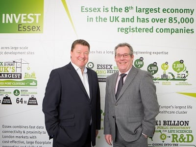 Graham Marley and Dave Watson of the INVEST Essex loan provider team