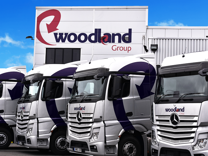 Woodland Group lorries