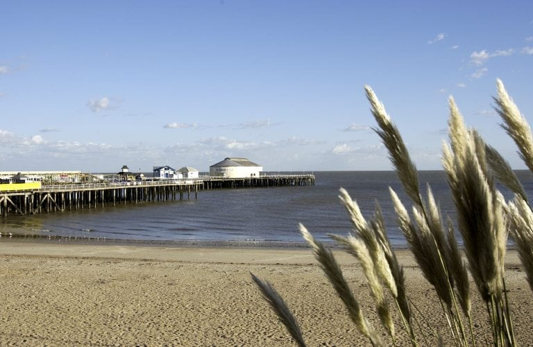 Clacton sea pier in Essex