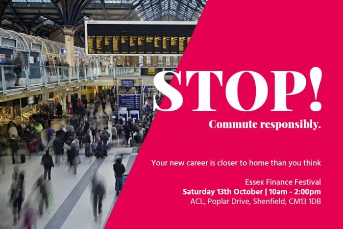 Commute responsible finance festival poster