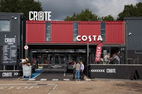 Crate and Costa front view