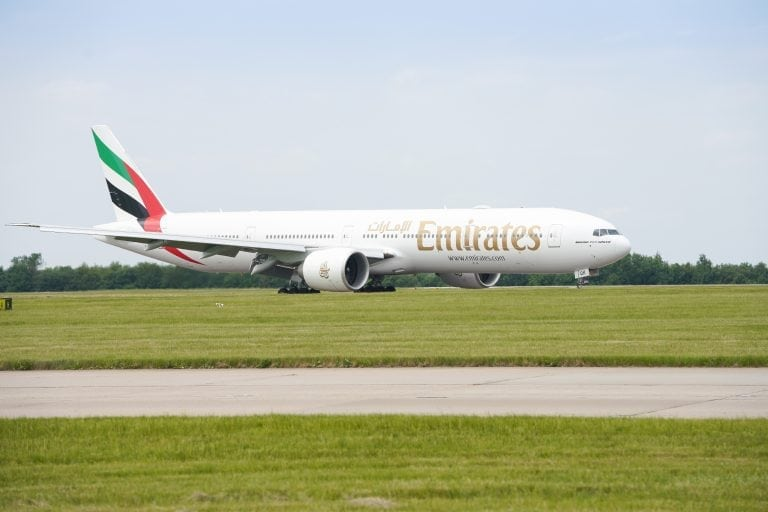 Emirates Airline at Stansted Airport