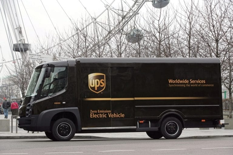 UPS electric vehicle - London Eye