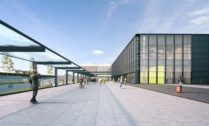 New arrivals terminal at London Stansted Airport