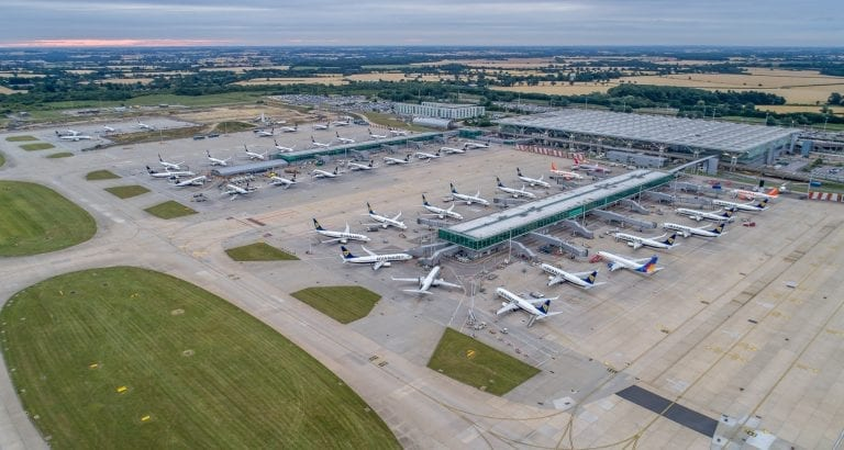 London Stansted Airport Busy