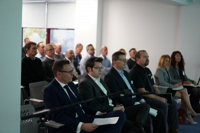Attendees listening to nuclear seminar