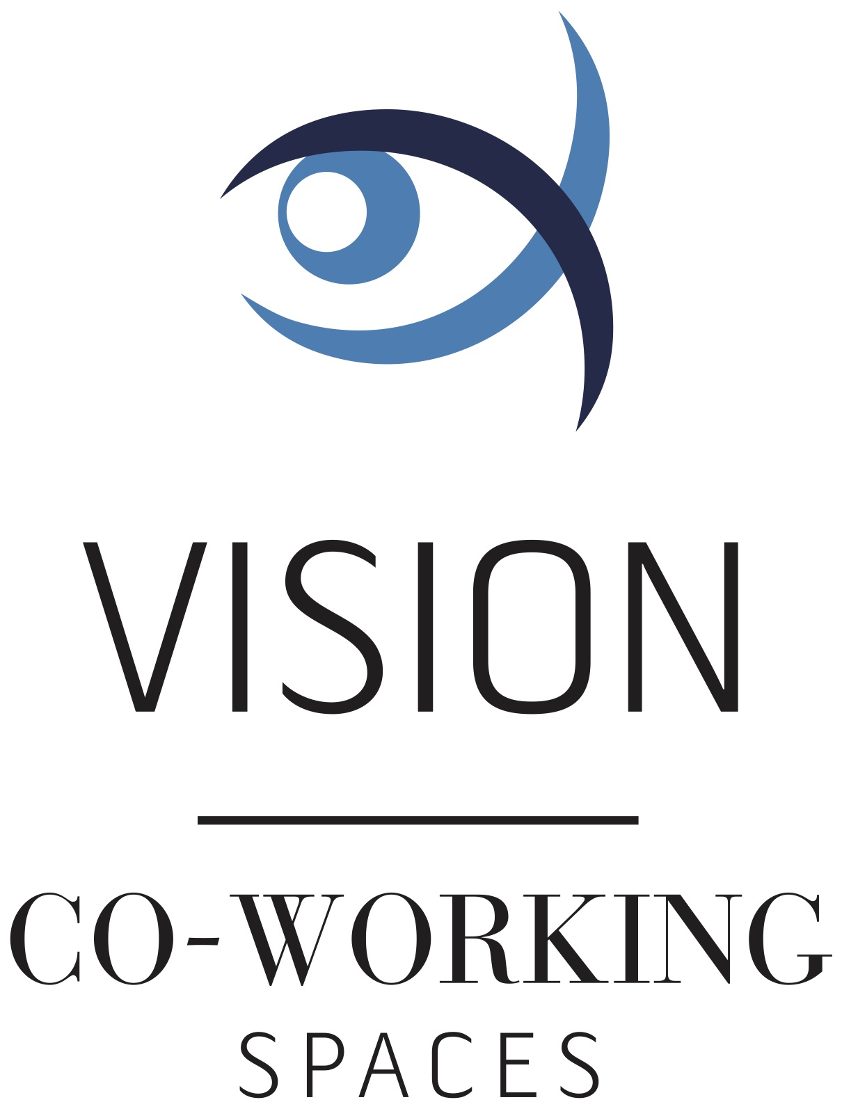 Vision co-working spaces logo