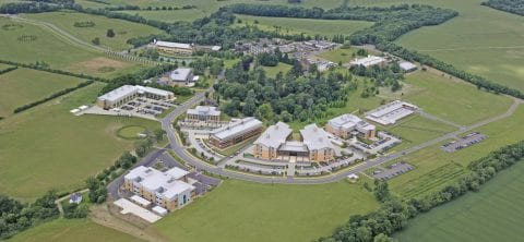 Chesterford Research Park with grow on space aerial