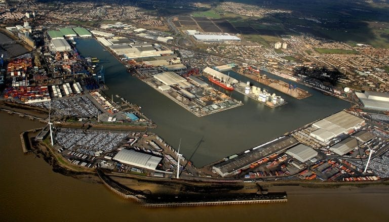 Aerial of Port of Tilbury
