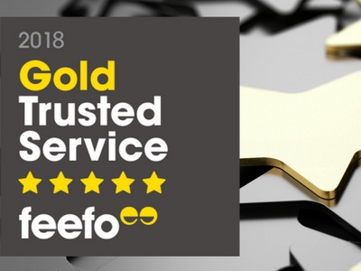 Feefo Gold Trusted Service Award Winners for 2018