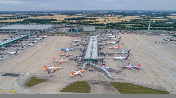 London Stansted Airport apron